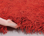 Super Soft 225x155cm Shag Rug - Red 4