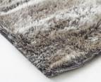 Super Soft Metallic 85x55cm Shag Rug 3-Pack - Granite 2