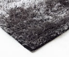 Super Soft Metallic 85x55cm Shag Rug 3-Pack - Charcoal 2