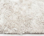 Super Soft Metallic 85x55cm Shag Rug 3-Pack - Natural 3