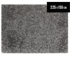 Super Soft 225x155cm Shag Rug - Charcoal/Grey 1