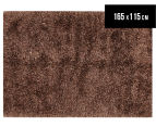 Super Soft 165x115cm Shag Rug - Gold 1