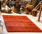 Classic Block Colour 165x115cm Shag Rug - Rusty 2