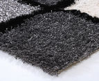 Super Soft 280x190cm Shag Rug - Black/White 2