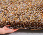 Super Soft 165x115cm Shag Rug - Gold 3