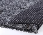 Super Soft 225x155cm Shag Rug - Charcoal/Grey 3
