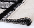 Super Soft 280x190cm Shag Rug - Black/White 4