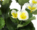 Set of 2 Artificial 28x24cm Potted Pansies - White 4
