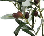 Artificial 92cm Potted Olive Tree - Green 6