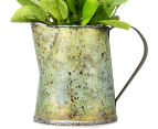 Set of 2 Artificial 22x14cm Flower Mix in Tin Jug - Yellow 6