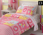 Freckles Double Quilt Cover Set - Candy Pink 1