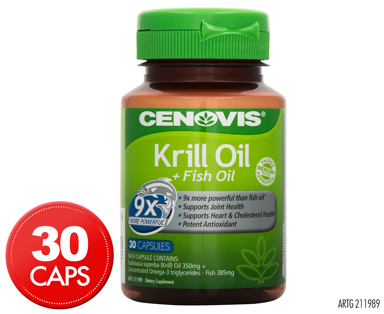 Cenovis krill oil fish oil 30 caps for Fish oil and arthritis