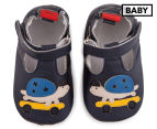 Angel Fit Baby Cute Turtle Shoes - Navy 1