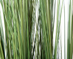 Artificial 120cm Potted Feather Reed Plant - Green/White 4