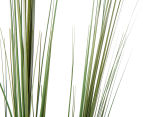 Artificial 120cm Potted Feather Reed Plant - Green/White 5