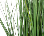 Artificial 90cm Potted Feather Reed Plant - Green/White 6