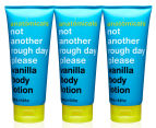 3 x Anatomicals Not Another Rough Day Please Body Lotion Vanilla 200mL 1