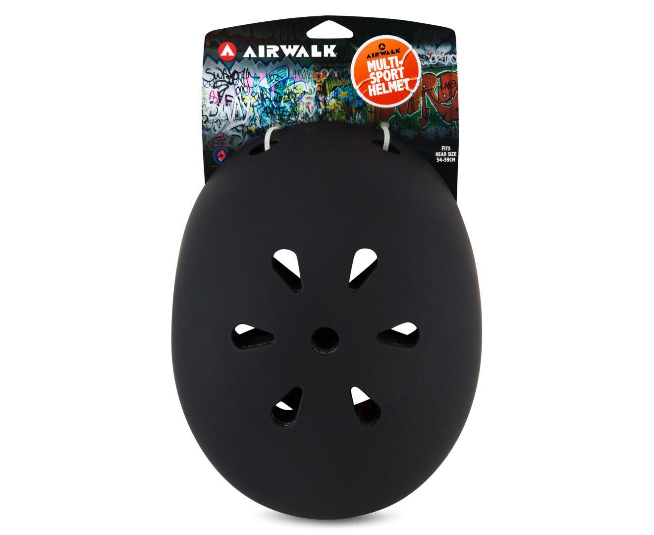 Airwalk Skate Helmet Medium - Black/Green