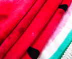 Cooper & Co. 150cm Watermelon Round Beach Towel - Pink/Green 2