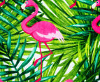 Cooper & Co. 150cm Flamingo Round Beach Towel - Green/Pink 3