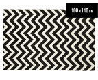 Chevron 160x110cm Rug - Black/White 1