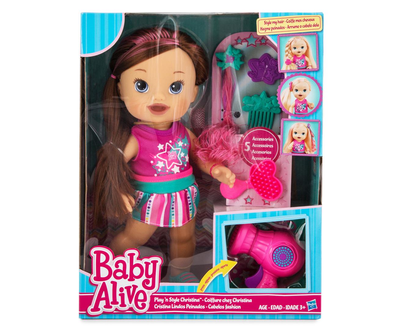 Baby Alive Play N Style Christina Doll Brunette Mumgo