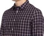 JAG Men's Long Sleeve Fine Multi Check Shirt - Navy 6