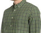JAG Men's Long Sleeve Even Check Shirt - Khaki 6