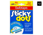2 x Sellotape Removable Sticky Dots 80-Pack 1