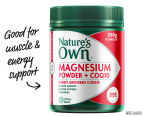 Nature's Own Magnesium Powder + CoQ10 250g 1