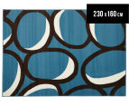 Maple Leaf 230x160cm Rug - Blue 1