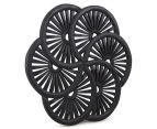 Wooden Carved Wall Hanging Wheels - Black 2