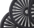 Wooden Carved Wall Hanging Wheels - Black 3
