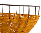 Set of 2 Nested Oval Limpopo Baskets - Orange/Red 4