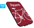 Smartoools MC5 5000mAh Mobile Charger - Bike Burgundy 1