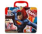 Batman v Superman Lunch Tin w/ 100-Piece Puzzle - Red/Multi 1