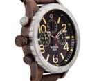 Nixon Men's 48mm 48-20 Chrono Leather Watch - Antique Copper/Brown 3