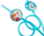2 x Frozen Twisted Silly Straws 4pk - Blue 3