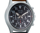 Pulsar 43mm Solar Chronograph Watch - Brown  2