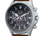 Pulsar 43mm Solar Chronograph Watch - Brown  3