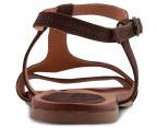 Wild Rhino Women's Madison Flat Sandal - Dark Brown 4