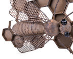 Metallic 70x32cm Beehive Wall Hanging 3