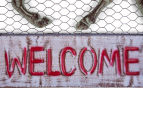 Metallic 46x40.5cm Horse Welcome Sign - Grey 4