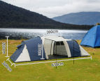 12 Person Family Camping Dome Tent - Navy/Grey 2