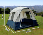 4 Person Family Camping Tent - Navy/Grey 2