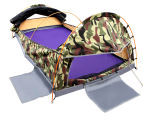 King Single Camping Canvas Swag Tent - Green/Camo 3