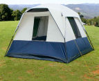 4 Person Family Camping Tent - Navy/Grey 4