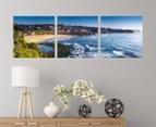 Bronte Beach Sunrise 50x50cm 3-Part Canvas Wall Art Set 2