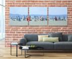 Yacht Race 50x50cm 3-Part Canvas Wall Art Set 2