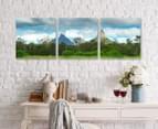 Glass House Mountain 50x50cm 3-Part Canvas Wall Art Set 2